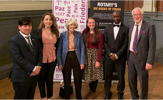 Rotary Peace Fellows at Oxford Concert For Peace 2019