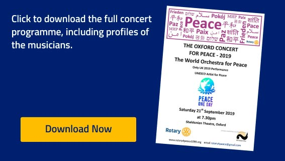 Oxford Concert For Peace 2019Programme 2019 - Programme Download